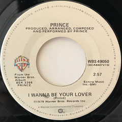 PRINCE:I WANNA BE YOUR LOVER(LABEL SIDE-A)