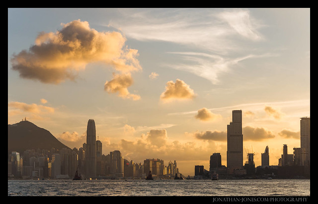 Hong Kong Harbour Sunset, Panasonic DMC-G7, Lumix G Vario HD 14-140mm F4.0-5.8 Asph. Mega OIS