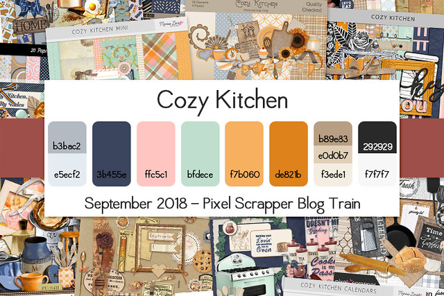 Pixel Scrapper September 2018 Blog Train - Cozy Kitchen