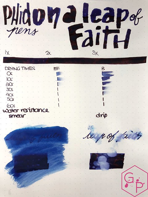 Phidon Pens 10th Anniversary A Leap of Faith Ink Review 13