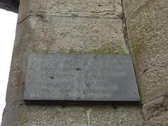 Photo of Thomas Telford and Conwy Suspension Bridge slate plaque
