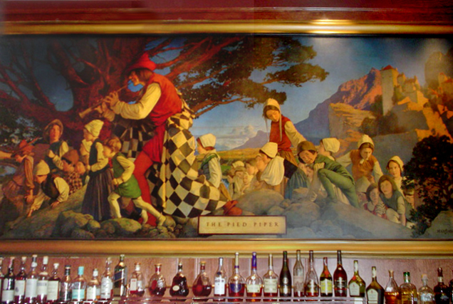 1909 Maxfield Parrish mural of the Pied Piper of Hamlin at the Palace Hotel, San Francisco