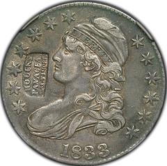 Houck's Panacea on 1833 Half Dollar obverse