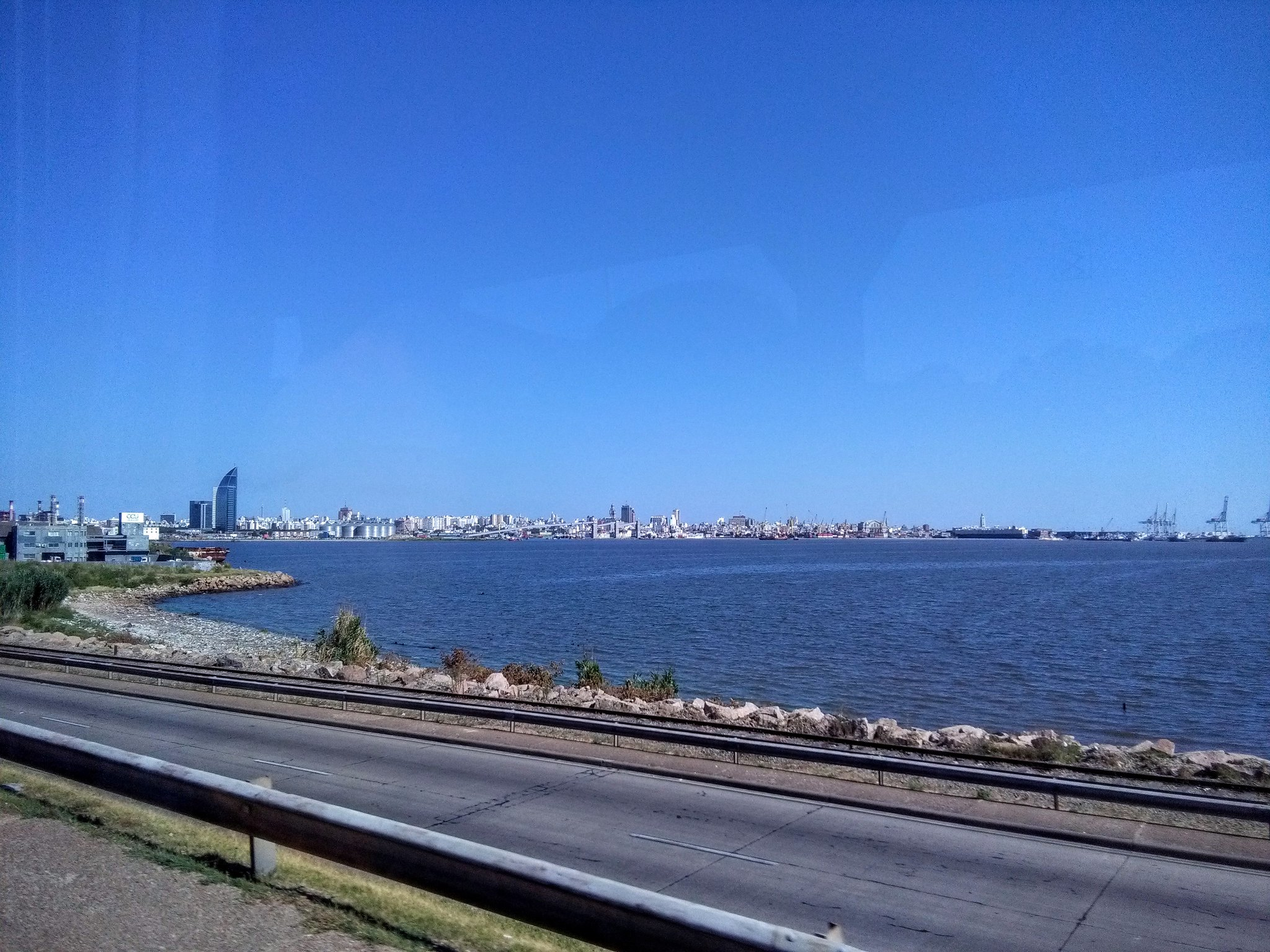 View from the bus as we pull in to Montevideo