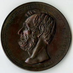 1866 French Abraham Lincoln Mourning Medal obverse