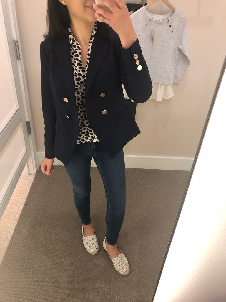 LOFT Double Breasted Blazer, size 00P