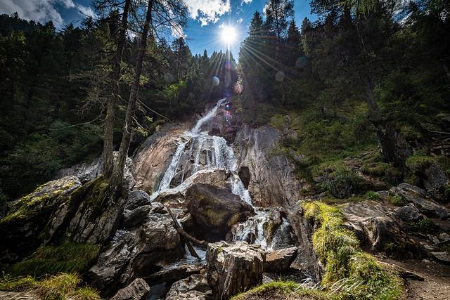 Wasserfall in Hintertux