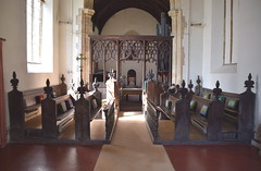 chancel, looking west
