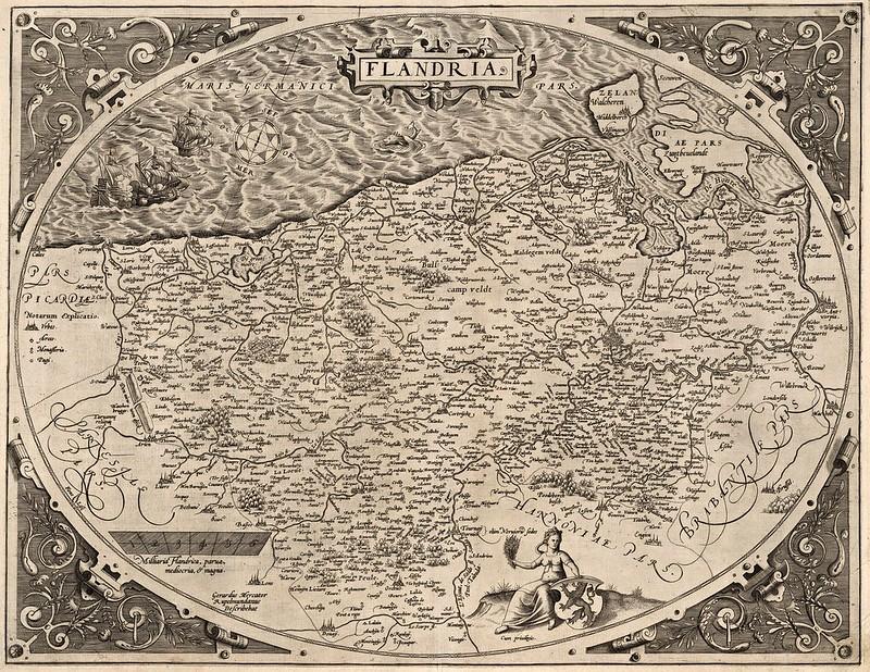 Abraham Ortelius - Flandria (1570)