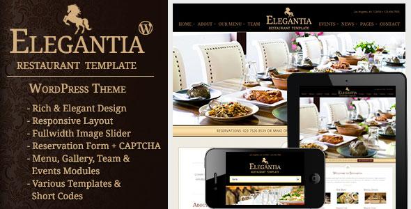 ThemeForest – Elegantia v.1.2 – Restaurant and Cafe WordPress Theme