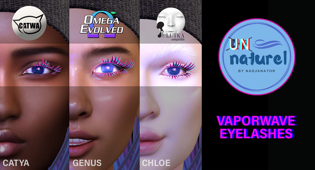auNaturel // Vaporwave Eyelashes // L$50
