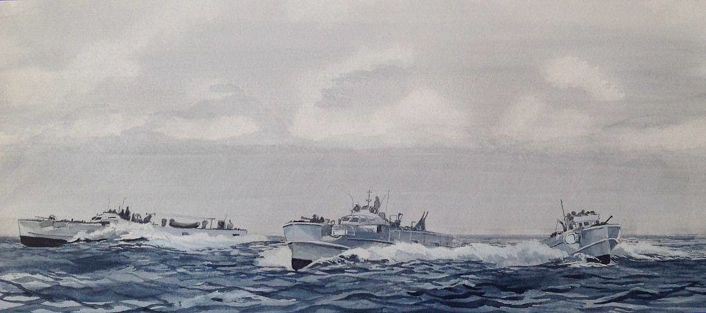 This afternoons effort, not ships this time Moira, ..........boats! German E Boats of WW 2
