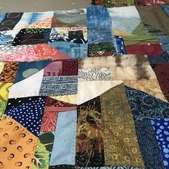Village quilt in progress