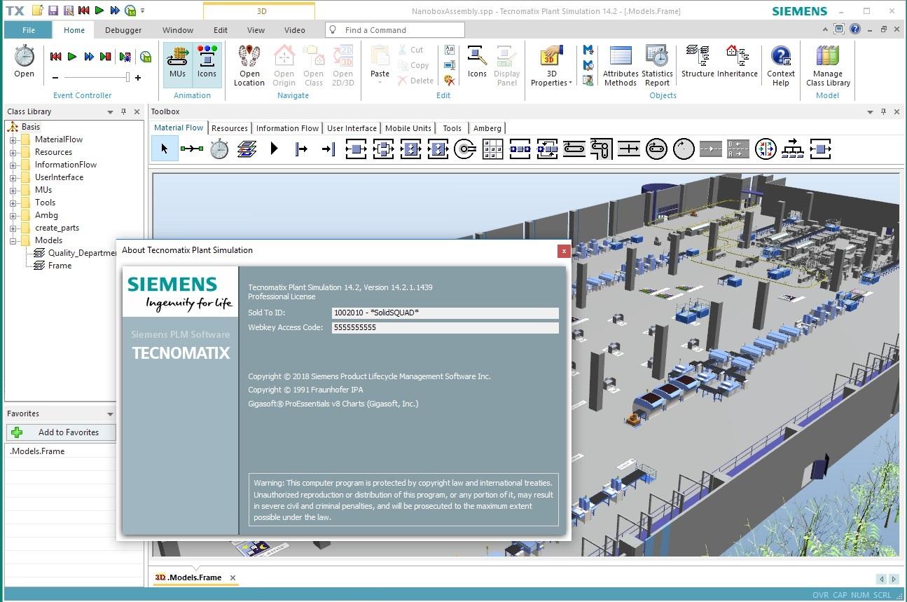 Working with Siemens Tecnomatix Plant Simulation 14.2 full license
