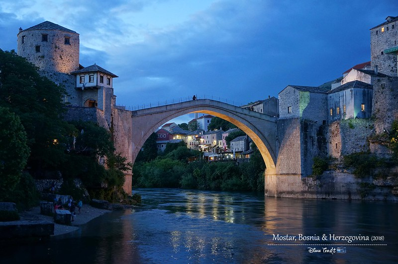 2018 Bosnia Mostar Stari Most At Night