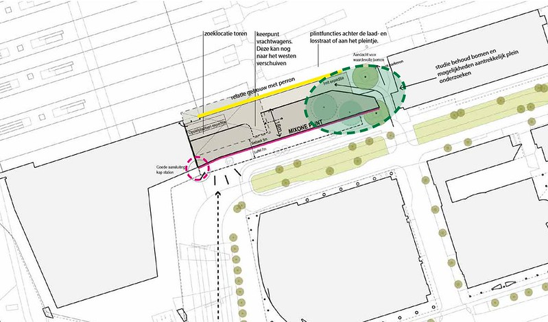 Cenrtral Distict nieuwbouw Delftseplein plan