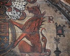 dragon (detail, Elizabeth I royal arms, 1587)