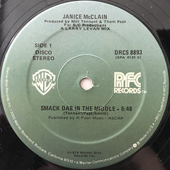 JANICE MCLAIN:SMACK DAB IN THE MIDDLE(LABEL SIDE-A)