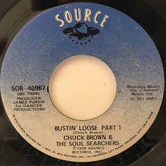 CHUCK BROWN & THE SOUL SEARCHERS:BUSTIN' LOOSE(LABEL SIDE-A)