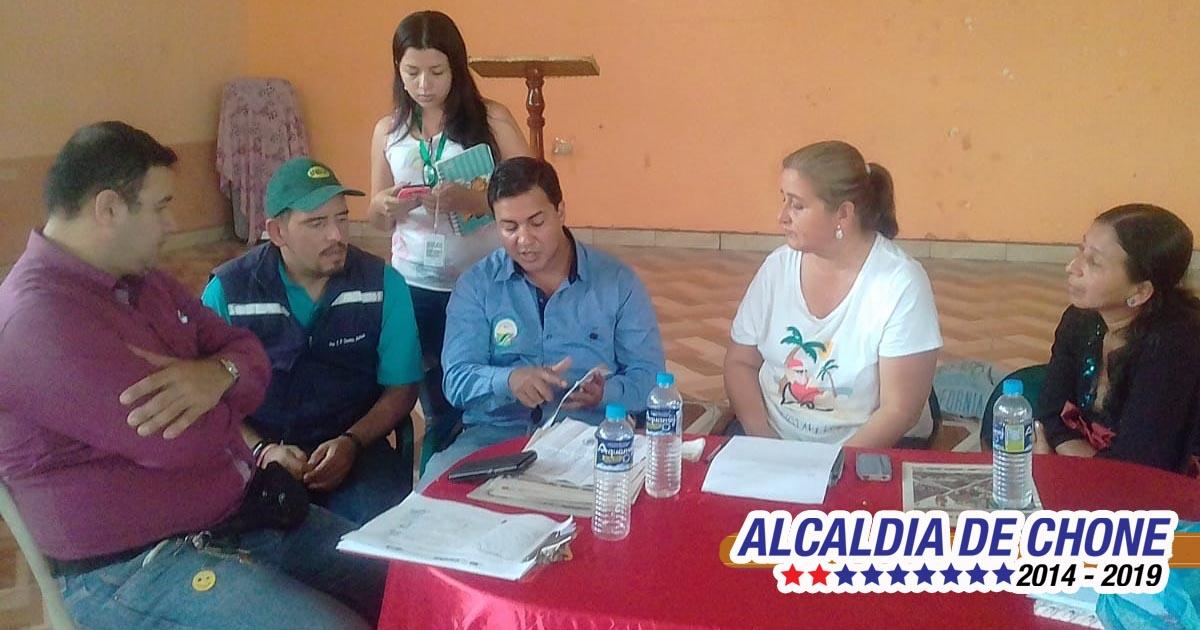 Municipio de Chone reúne a organizaciones rurales