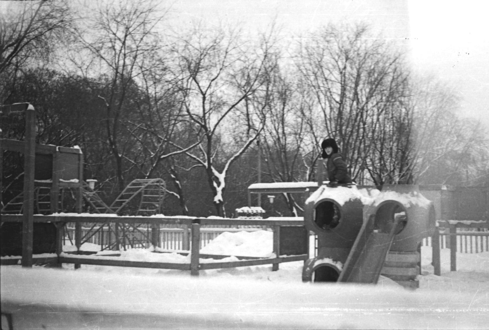 1977. В Детском городке ЦПКиО им. Горького