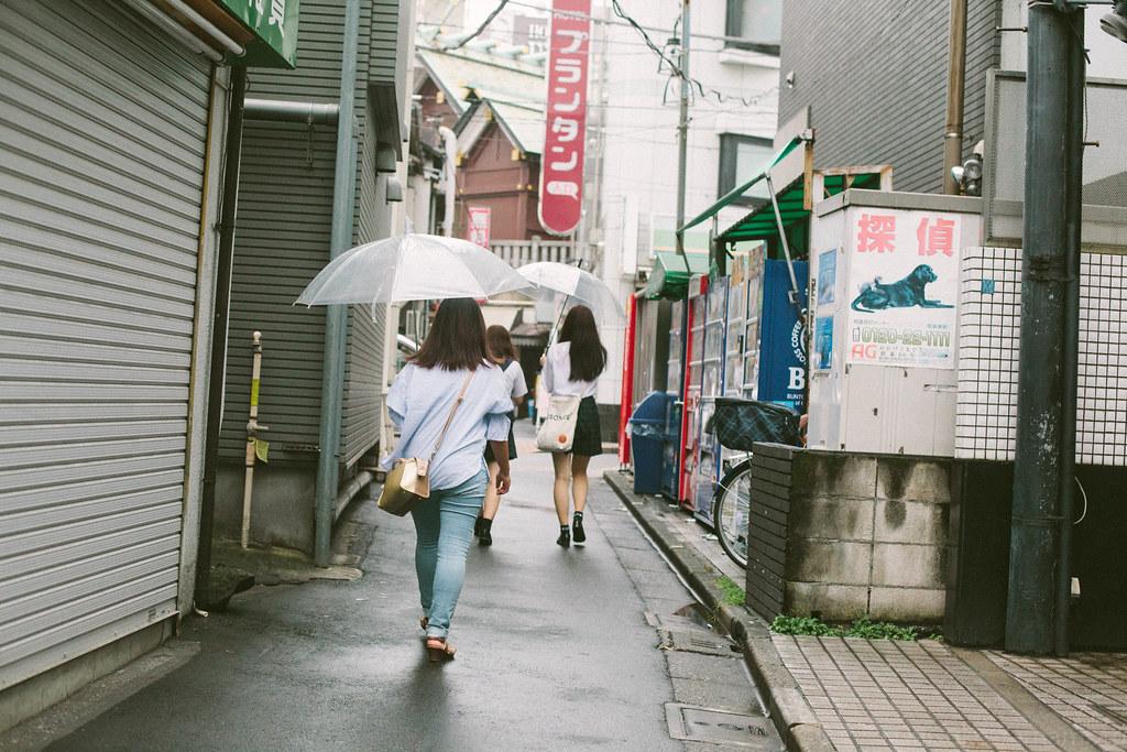 it rains.