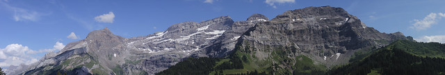 Panoramic view of the Massif des Diablerets