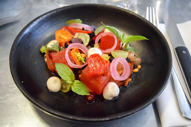 Tomato, Watermelon & Taramaslata Salad at Frenchie, Covent Garden
