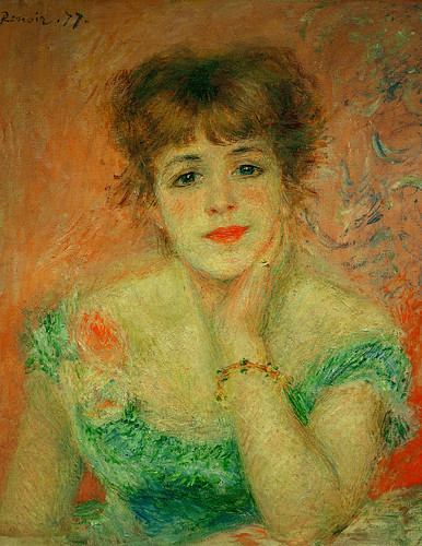 Pierre Auguste Renoir - Portrait of the actress Jeanne Samary, 1877 at French Landscape Paintings from The Pushkin State Museum of Fine Arts Moscow at Tokyo Metropolitan Art Museum Tokyo Japan