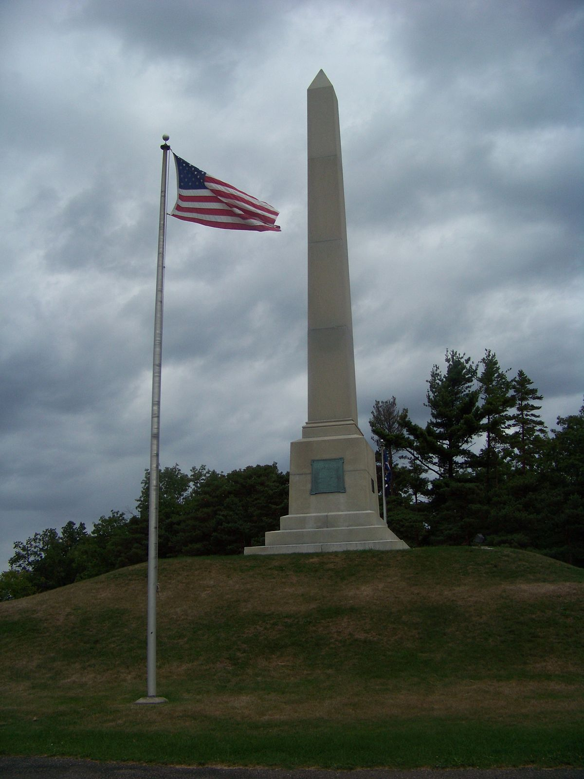 Newtown Battlefield Monument photographed on September 7, 2008.