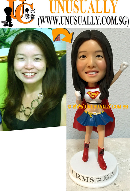 Custom 3D Super Women Figurine - © www.unusually.com.sg