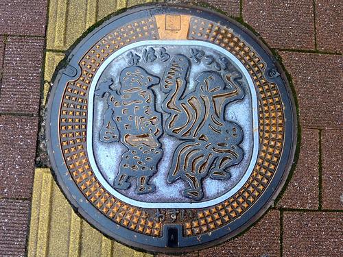 Mihara Hiroshima, manhole cover (広島県三原市のマンホール)