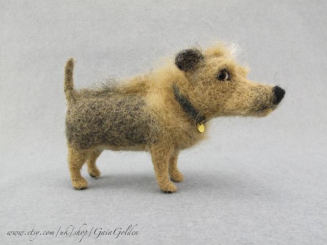 Sid, Needle felted Punk dog.