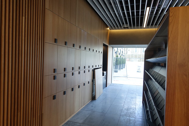 Lockers, ground floor