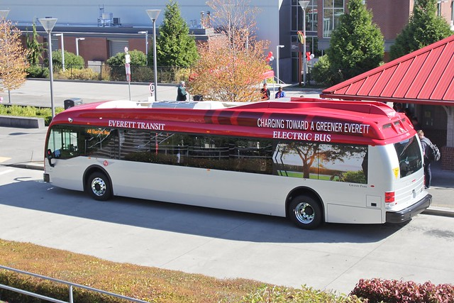Everett Transit's new Proterra electric bus