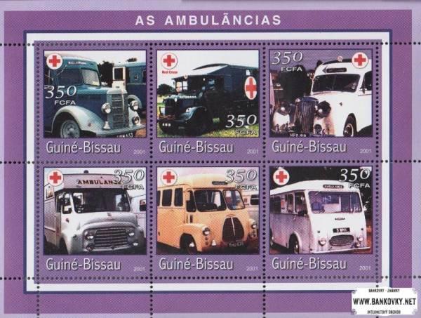 Známky Guinea-Bissau 2001 Sanitky, MNH nerazítkovaná séria