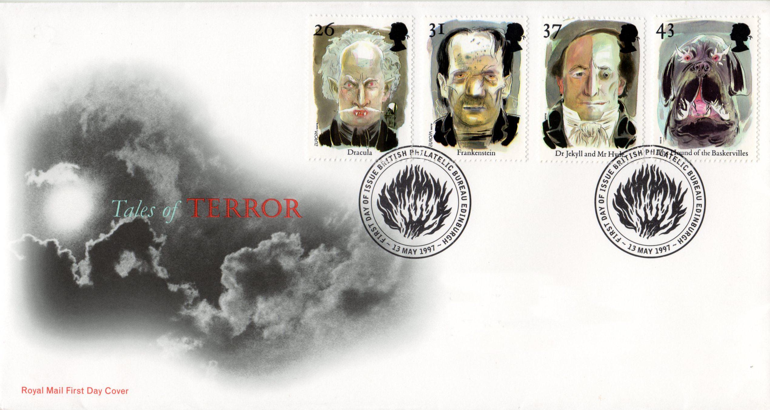 Great Britain - Scott #1754-1757 (1997) first day cover, Edinburgh postmarks