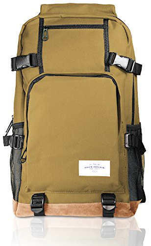 Rock.holick Deluxe Casual Daypack Backpack (Urban- Mocha) Review
