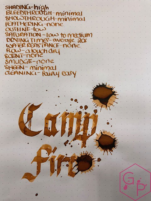 Robert Oster Campfire Ink Review for Phidon Pens 10th Anniversary 14