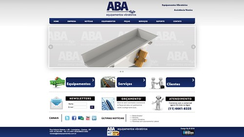 Site ABA Equipamentos