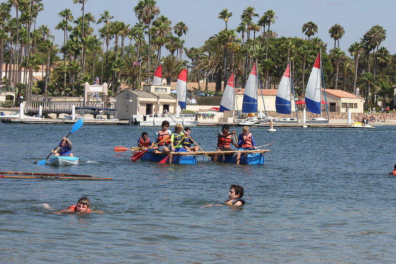 2018-08-31 Kon Tiki #3 raft building at Fiesta Island