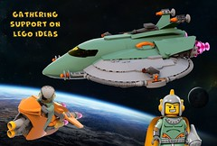RETRO HEROS SPACESHIP AND SPACEBIKE SUPPORT