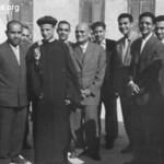 المقدس يوسف حبيب إلى يمين القمص بيشوي، في يوم رسامته الأربعاء 2 ديسمبر عام 1959