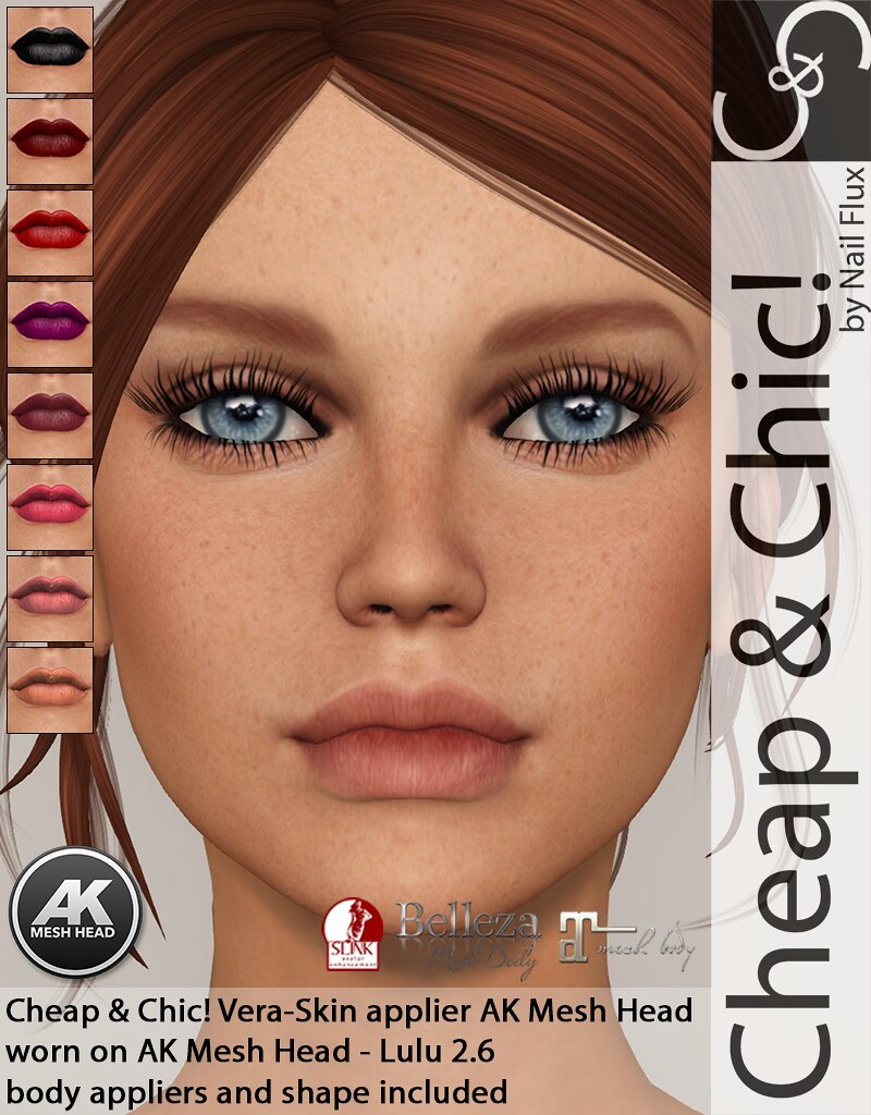 Cheap & Chic! Vera-skin applier for [AK Mesh Head]