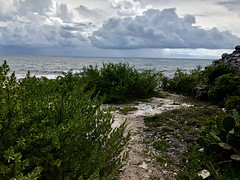 Storm approaching Mayan ruins