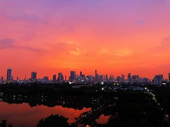Beautiful hazy rainy :umbrella:️ #sunset :sunrise: in #bangkok tonight