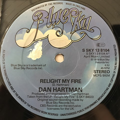 DAN HARTMAN:RELIGHT MY FIRE(LABEL SIDE-A)