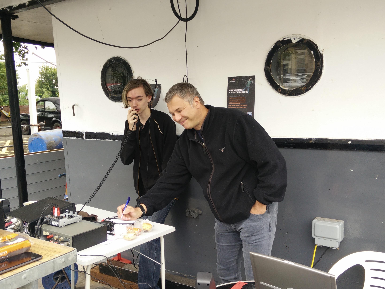 Ken and Jason operating