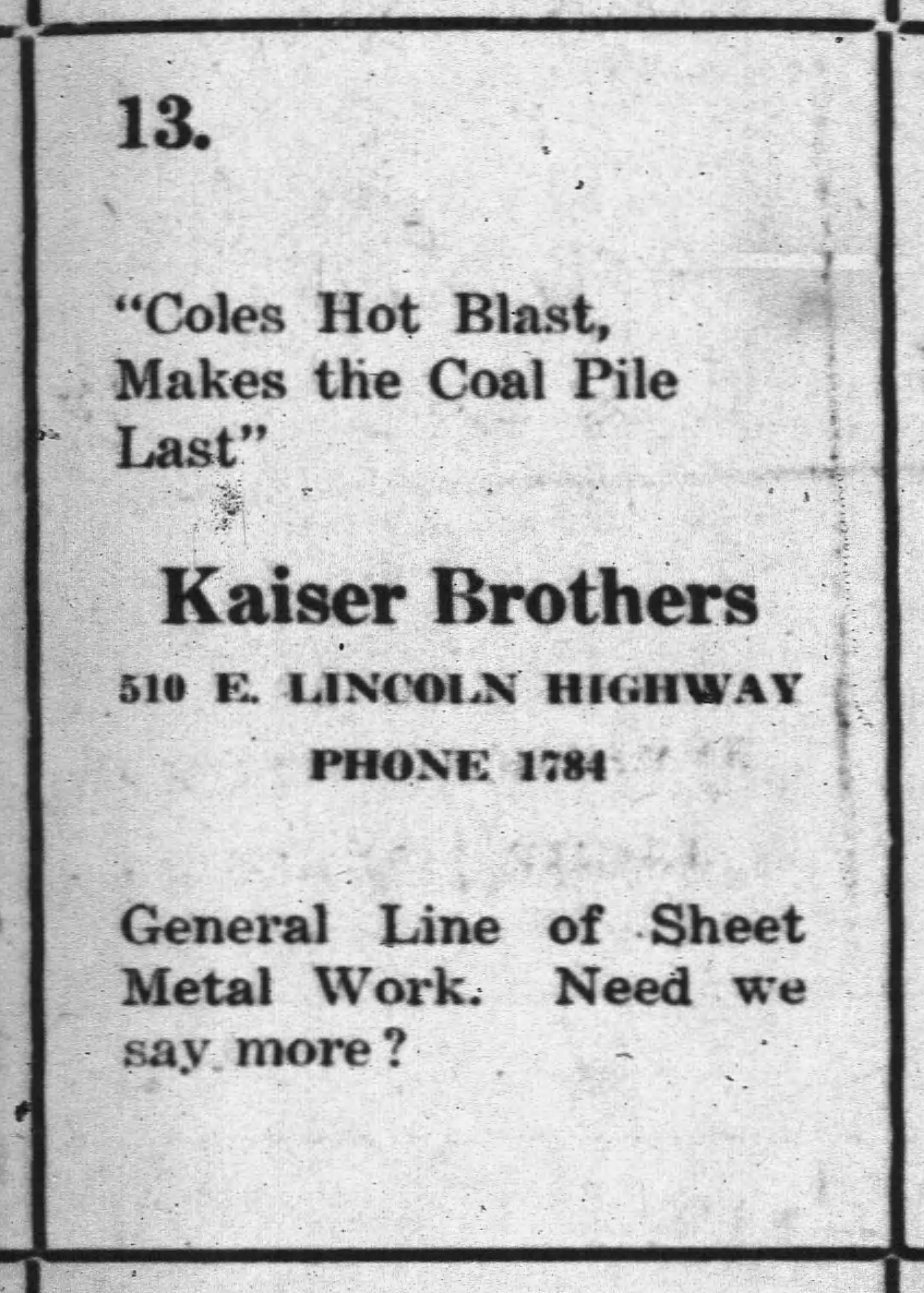 Kaiser_Tinning_1925_Ad_DekDailyChronicle_20Jul
