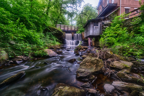 brushmillbythewaterfall chester connecticut hdr nikon nikond5300 architecuture bridge building creek geotagged longexposure restaurant river stream tree trees water waterfall unitedstates